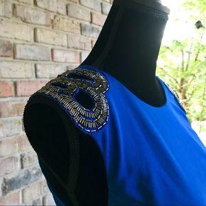 Arden B Sapphire Beaded Sequin Dress